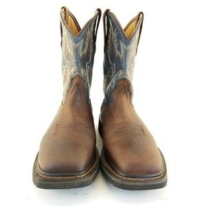 ARIAT Mens Sierra Wide Square Toe Soft Toe Leather